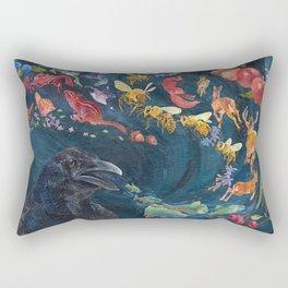 Crow Tells A Story Rectangular Pillow