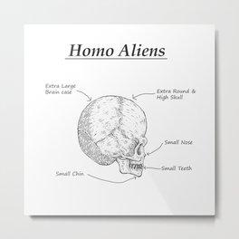 Homo Aliens Metal Print
