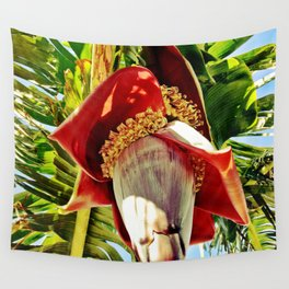 Banana Flower Wall Tapestry