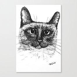 Siamese Cat Sketch Canvas Print