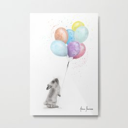The Bunny and The Balloons Metal Print