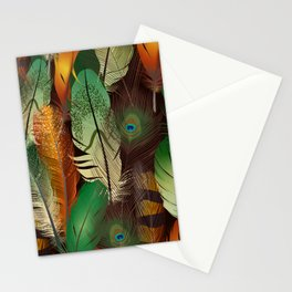 Autumn Peacock Stationery Cards