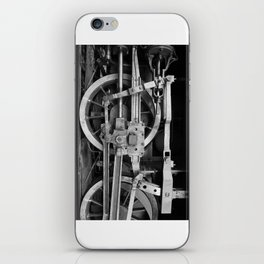 locomotive wheels iPhone Skin