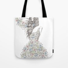 Flower Girl - pattern Tote Bag