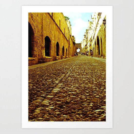 Medieval Streets Art Print