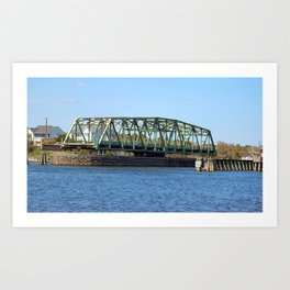 Swing Bridge Opened Art Print