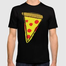 Pizza Party MEDIUM Mens Fitted Tee Black