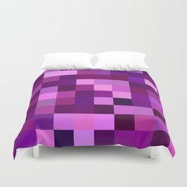 Deep purple mosaic Duvet Cover