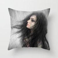 onward Throw Pillows featuring Onward by Justin Gedak