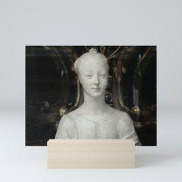 White Lady Marble Sculture Statue Mini Art Print