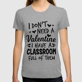 teacher Valentine's Day school pupil sweet gift T-shirt