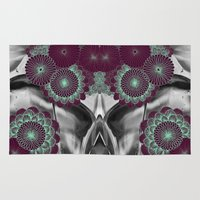 geode Area & Throw Rugs featuring Geode 5 by michiko_design