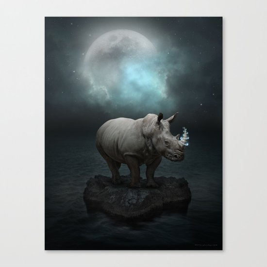 Power Is No Blessing In Itself v.1 (Protect the Rhino)  Canvas Print