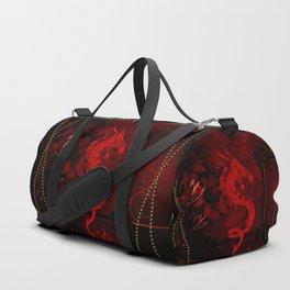 Wonderful red chinese dragon Duffle Bag
