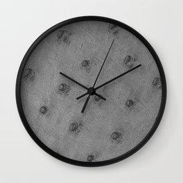 Ostrich leather effect (light grey) Wall Clock