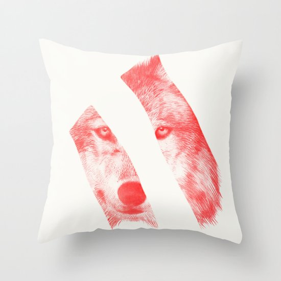 Red - by Eric Fan and Garima Dhawan  Throw Pillow