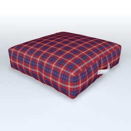 Ainslie Tartan Plaid Outdoor Floor Cushion