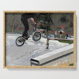 """Getting Air"" - BMX Rider Serving Tray"