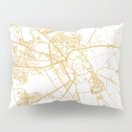 MARRAKESH MOROCCO CITY STREET MAP ART Pillow Sham