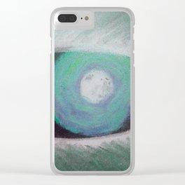 Werewolf Eye Ses Green Clear iPhone Case