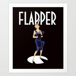 Flapper Art Print