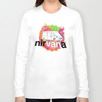 nirvana Long Sleeve T-shirts featuring nirVANa by nick inglis