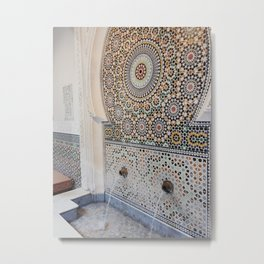 Moroccan Mosaic Fountain Metal Print