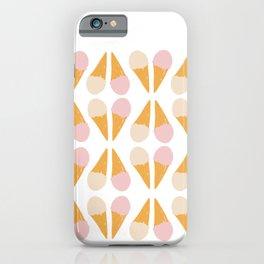 Ice Cream Cone Print iPhone Case