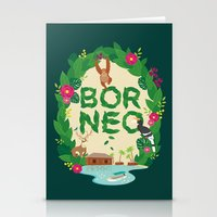 indonesia Stationery Cards featuring Borneo Indonesia by swanderfulthings