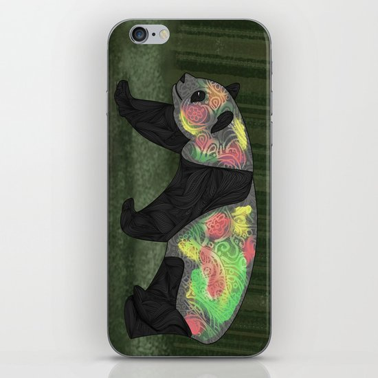 Panda Night iPhone & iPod Skin