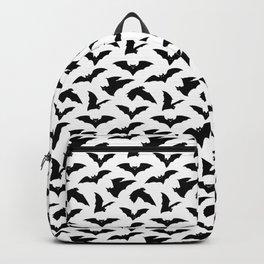 Bat Pattern - White Backpack