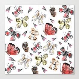 Fly fly butterfly Canvas Print