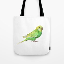 Geometric green parakeet Tote Bag