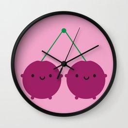 Kawaii Cherries Wall Clock