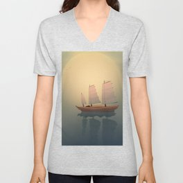 A Ship That Sails Away Unisex V-Neck