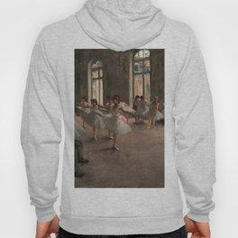 Classical Masterpiece 'The Ballet Rehearsal' by Edgar Degas Hoody