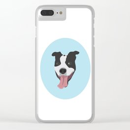 Smiley Pitbull Clear iPhone Case