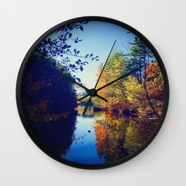 Sokokis Lake During the Fall Wall Clock