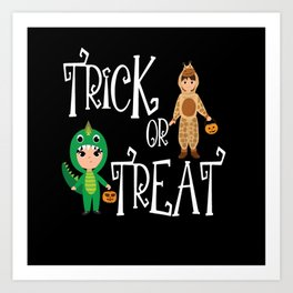 Trick or treat Kids funny Halloween Costume Art Print