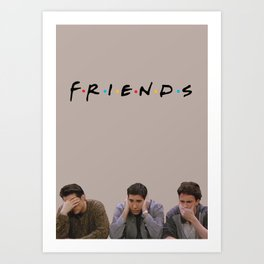 The One with Joey, Ross and Chandler face's. Art Print