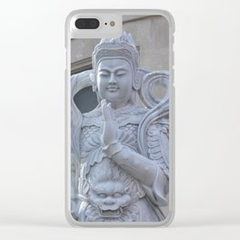 Budda of Park Slope Clear iPhone Case