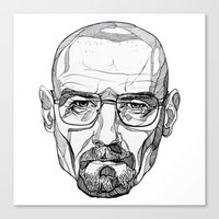 heisenberg Canvas Prints featuring Heisenberg by Christina Patti