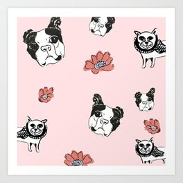 Tubby and Sassy Art Print