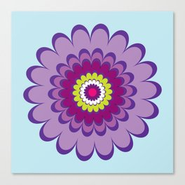 BIG ZINNIA Canvas Print
