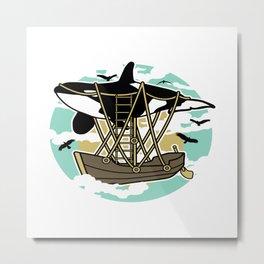 Airship Motif Metal Print