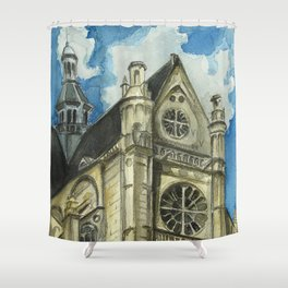 St Eustache, Paris Shower Curtain
