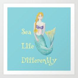 Sealife Differently Art Print