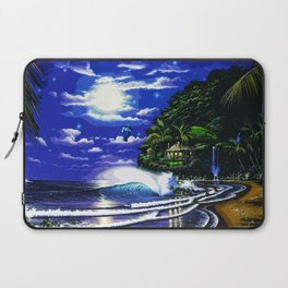 Tardis Art And The Moon Shine Laptop Sleeve