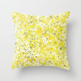 Speckles Lemon Throw Pillow