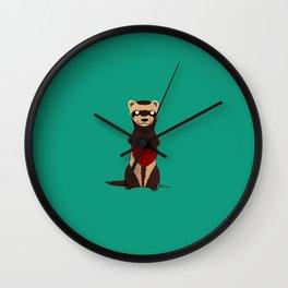 Lovely Ferret Wall Clock